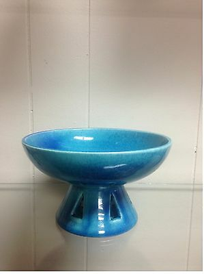 Vintage Mid Century Blue Royal Haeger 707 Candy Dish