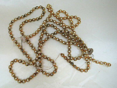 Vintage Yummy GOLD Mercury Glass Bead Christmas Garland 31/2 Ft of 1/2 in Beads