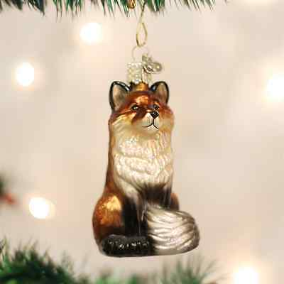 *The Fox* [12099] Old World Christmas Glass Ornament- NEW