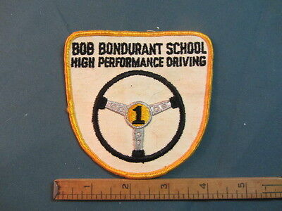 Original Vintage Bob Bondurant School High Performance Driving Patch