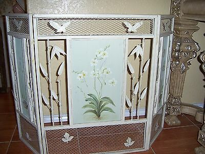 Vintage Wrought Iron Fireplace Screen Guard