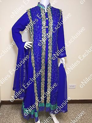 Pakistani Indian Salwar Kameez Party Wear Embroidery Wedding Bridal M