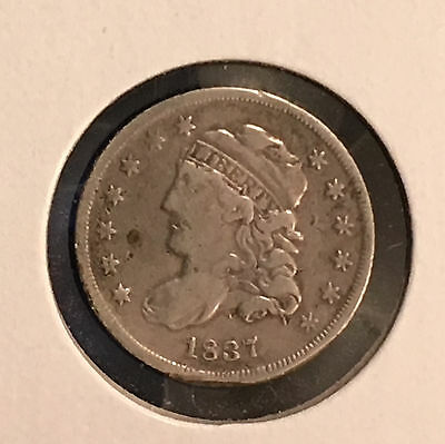 1837 H10C Capped Bust Half Dime [Auto Comb. Shipping](25981)