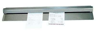 2 - Stainless Steel CHECK / PAPER / MESSAGES HOLDER Wall Mount - NEW in pkg
