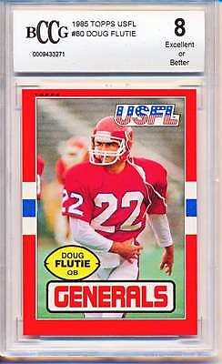 1985 Topps Usfl #80 Doug Flutie Rc Rookie Bccg 8 Ex Or Better Bc914