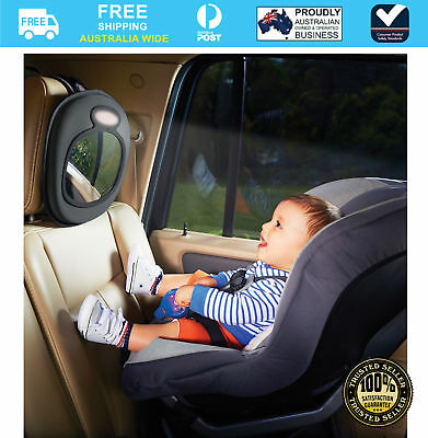 Brica Baby Infant Car Back Seat Rear ward Facing Musical Mirror #`61208
