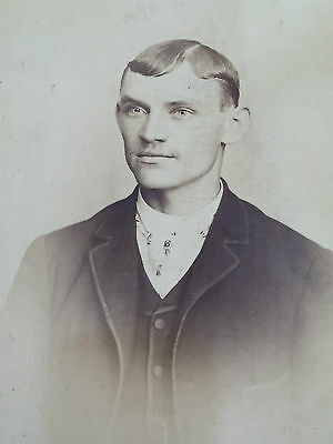 Antique Cabinet Card Photo 1800s Man from Buffalo New York