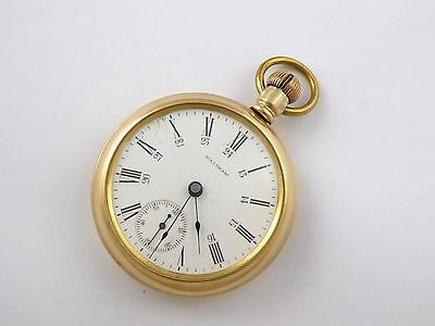 Antique 1900s Waltham Gold Plated  Pocket Watch with Engraved Back LAYBY