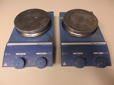 Lot of (2) IKA RCT Basic S1 Hot Plate Magnetic Stirrers