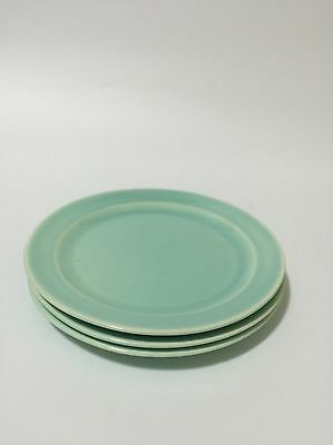 9 LURAY Plates Lunch Dessert Blue Yellow Green Dish Set 6""