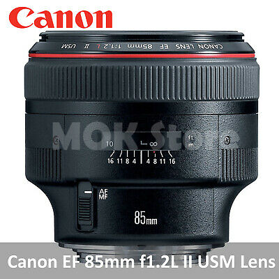 Canon EF 85mm f1.2L II USM Lens for Canon DSLR Cameras Genuine Sealed Retail Box
