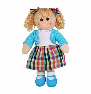 """Eloise Rag Doll by Hopscotch Collectibles soft toy Ragdoll 14""""/35cm NEW"""