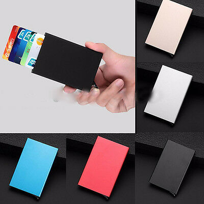 Slim Thin Aluminum Metal Credit Card RFID Protector Wallet Holder for Men Women