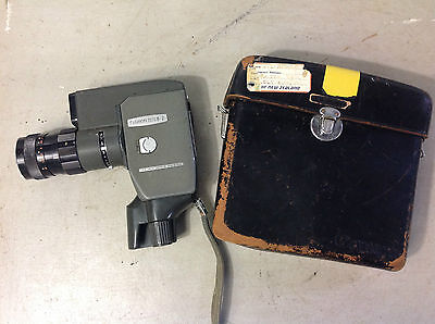 Vintage Canon Reflex Zoom 8-2 Wind Up Movie Camera In Leather Case, Collectable