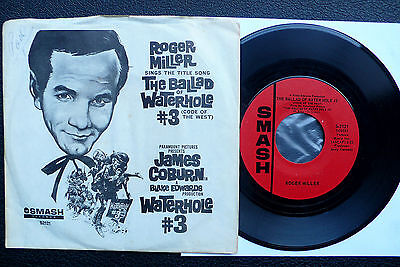 "7"" Roger Miller The Ballad Of The Waterhole #3 - USA Columbia w/ Pic"
