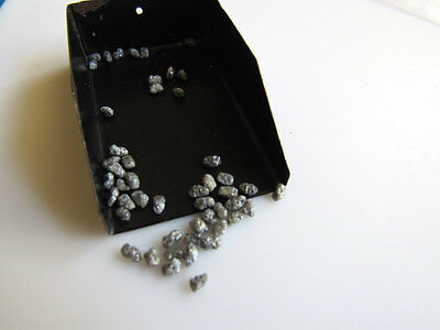 Loose Natural Grey Uncut Rough Diamond Raw Chips 3mm-2mm 2Carat Weight RS19