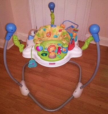 Fisher price jumperoo animals of the world rainforest bouncer baby toy activity