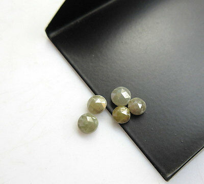 Loose Rough Diamond Rose Cut Yellow Raw Faceted Cabochon 3mm-4mm 5Pcs RS23