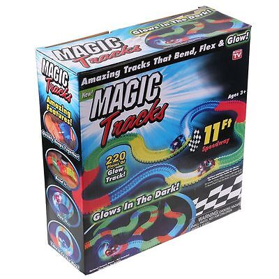 Magic Tracks The Amazing Racetrack that Can Bend Flex & Glow 11Ft