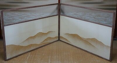 Furosaki Byobu traditional Japanese Tea Ceremony folding screen 1900s Japan
