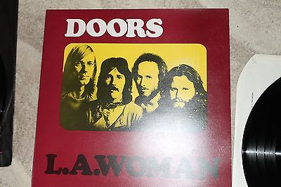 doors LA woman butterfly label in nm and nm album cover