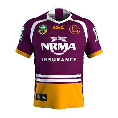 2017 YOUTH/KIDS Brisbane Broncos Rugby league Home Jersey ISC S-3XL