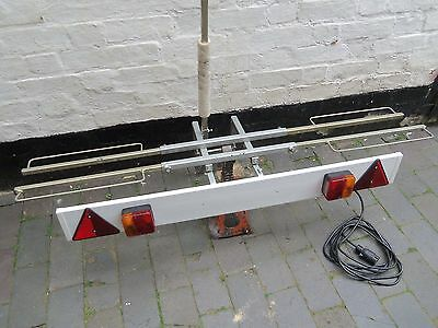 Bike Carrier Two Bike Adjustable Carrier With Light Board And Towbar Attachment