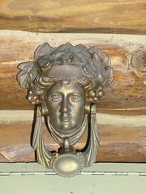 Vintage Antique Solid Brass Greek God Door Knocker HEAVY DUTY