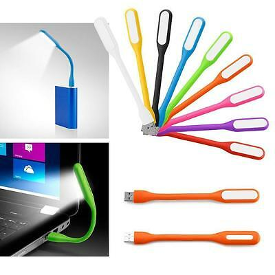 Mini Flexible USB Lampe Lumière LED pour Notebook Portable PC Lecture 9 Colors