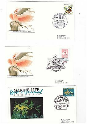 Australia 1984/85 Group of Covers  ( 3 covers )               lot no 4