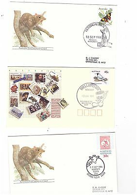 Australia 1984/92 Group of Covers  ( 3 covers )               lot no 6