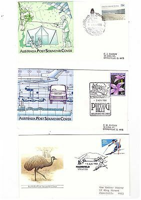 Australia 1984/86 Group of Covers  ( 3 covers )               lot no 8