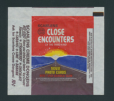 Close Encounters of the Third Kind Scanlens Card Wrapper 1978