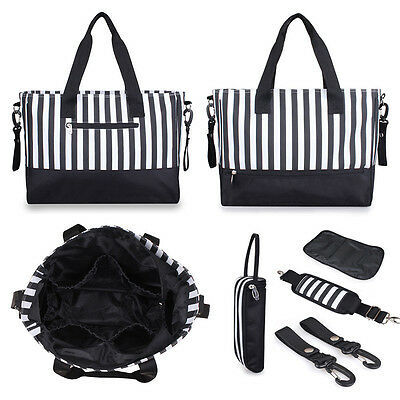 Multifunction Striped Baby Diaper Nappy Changing Bag Expectant Mummy Handbag Hot