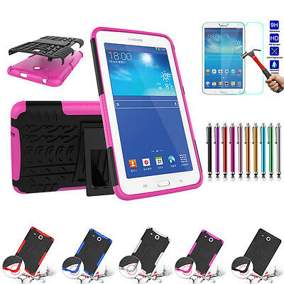 Defender Heavy Duty Stand Shockproof Rubber Hybrid Case Cover For Samsung Tablet
