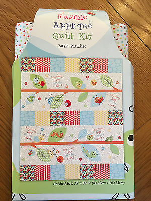 The Craft Cotton Co Quilt Collection Fabric Applique BUGS PARADISE Quilt kit BP1