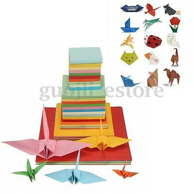 Origami Square Double Sided Folding Lucky Wish Paper Crane Craft Colorful Sheets