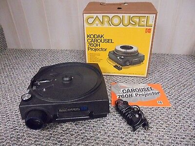 Great Vintage Kodak Carousel 760H Projector in Box~Tested~Complete