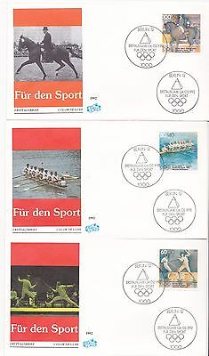 1992 Germany Barcelona Summer Olympics first day cover FDC FDI handstamp sport