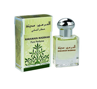 Madinah By Al Haramain 15ml Concentrated Perfume Oil Unisex (Woody/Jasmine/Musk)