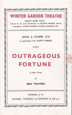1947 Winter Garden theatre programme Outrageous Fortune Enid Lowe Rona Laurie