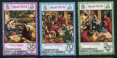 New Hebrides 1976 Christmas -FU -French Version