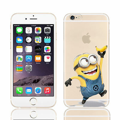 TPU Minions Smile Flexible Protect Soft Cover Mobile Phone Case for iphone 6/6S