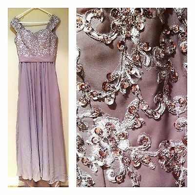 Formal Dress/Prom Dress / Party Dress - Size 10 - Floor Length / Sequin Pattern