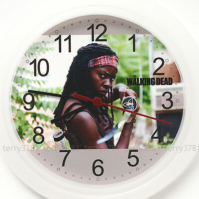 THE WALKING DEAD Wall Clock NEW 24cm Michonne dvd series zombie Christmas Gift
