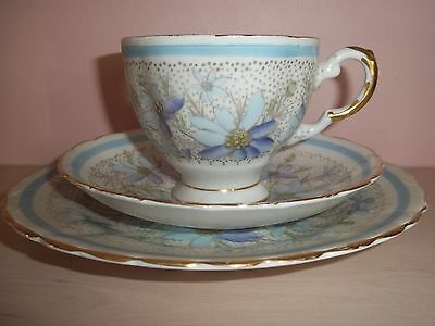 Vintage cup, saucer and plate [Tuscan - 'Plant' pattern]