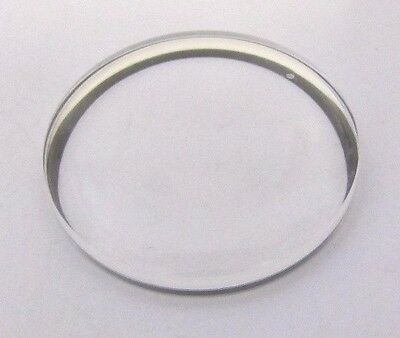 OMEGA, original Glas 30,7mm, H=5,6 mit Anthrazitring NEU aus Bestand, swiss made
