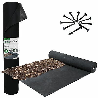 Heavy Duty Weed Control Fabric Ground Cover Membrane Landscape Garden 50Gsm