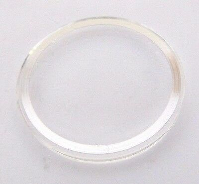 OMEGA, original Glas 35,0 mm mit Chromring , NEU aus Lagerbestand, swiss made