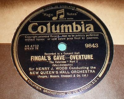 Fingal´s cave, Overture (Mendelssohn) Sir H.J. Wood, New Queen´s Hall Orch. 2x